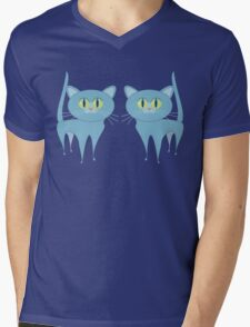 A PAIR OF PURRING CATS Mens V-Neck T-Shirt