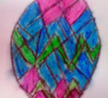 Happy Easter in stained glass style by Rebecca Haertel