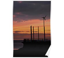 Starr Gate, Blackpool at Sunset. Poster