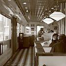 Diner. Small Town America II by Rachel Sonnenschein