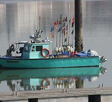 Little Green Fishing Boat - Royan by Pamela Jayne Smith