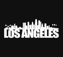 LA Skyline white Kids Tee