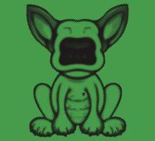 Black Dot English Bull Terrier Puppy Design One Piece - Short Sleeve