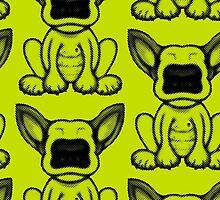Black Dot English Bull Terrier Puppy Design by Sookiesooker