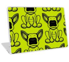 Black Dot English Bull Terrier Puppy Design Laptop Skin