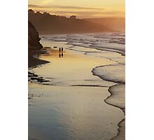 Stroll in evening light- Whitby, North Yorkshire Photographic Print