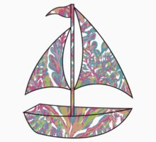 Lilly Pulitzer Inspired Sailboat Scuba to Cuba by mlr28blu