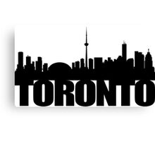 Toronto Skyline black Canvas Print