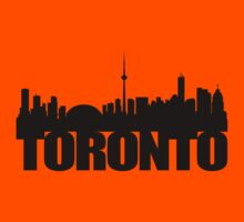 Toronto Skyline black Kids Tee