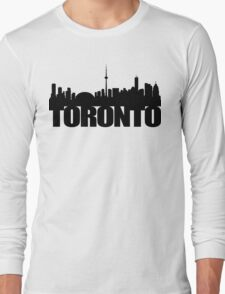 Toronto Skyline black Long Sleeve T-Shirt