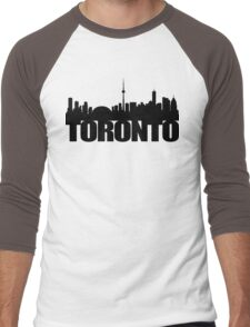 Toronto Skyline black Men's Baseball ¾ T-Shirt