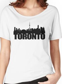 Toronto Skyline black Women's Relaxed Fit T-Shirt