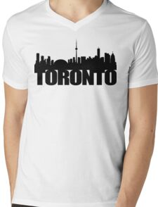 Toronto Skyline black Mens V-Neck T-Shirt