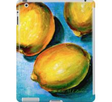 Lemons on Blue Canvas iPad Case/Skin