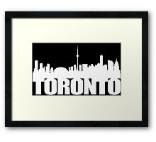 Toronto Skyline white Framed Print