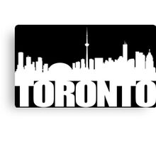 Toronto Skyline white Canvas Print