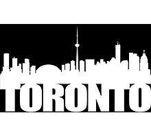 Toronto Skyline white Photographic Print