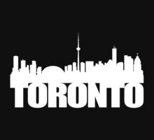 Toronto Skyline white Kids Tee