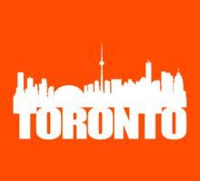 Toronto Skyline white Kids Tee