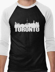 Toronto Skyline white Men's Baseball ¾ T-Shirt