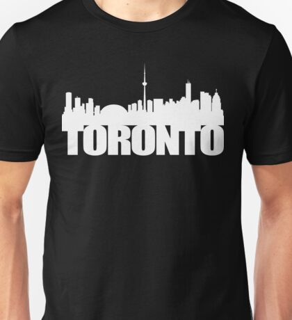 Toronto Skyline white Unisex T-Shirt