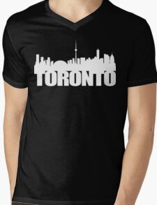 Toronto Skyline white Mens V-Neck T-Shirt