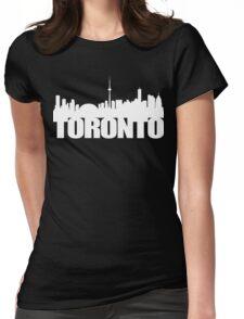 Toronto Skyline white Womens Fitted T-Shirt