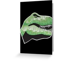 Polygonal Trex Greeting Card