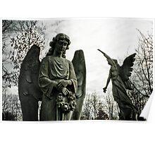 Silent Protectors - Graveyard Statues Poster