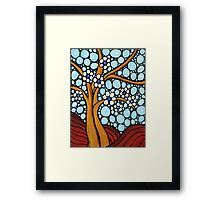 The Loving Tree - Abstract Mosaic Landscape Art Print Framed Print