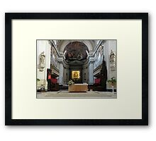 Altar of the Santa Maria Assunta - Palermo Cathedral  Framed Print