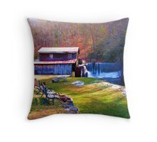 Skeenah Creek Mill Throw Pillow