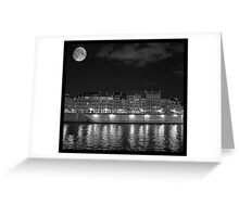 Moonlight and Île Saint-Louis Greeting Card