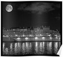 Moonlight and Île Saint-Louis Poster