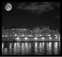 Moonlight and Île Saint-Louis Photographic Print