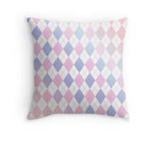 Pastel Argyle Throw Pillow