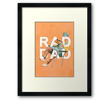Rad Dad Framed Print