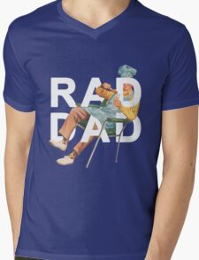 Rad Dad Mens V-Neck T-Shirt