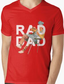 Rad Dad Mens V-Neck T-Shirt