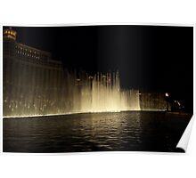 Foutains of Bellagio at Night Poster