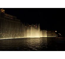 Foutains of Bellagio at Night Photographic Print