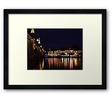 London Bridge Christmas Framed Print