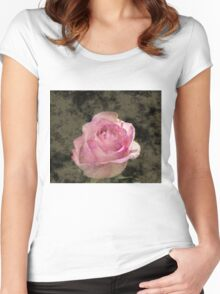 GOLDEN FOGGED ROSE Women's Fitted Scoop T-Shirt