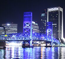 08-126 ~ Jax Blue Bridge at Night by djyoriginals