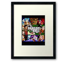 Dragonball GTA Style Fan Made Framed Print