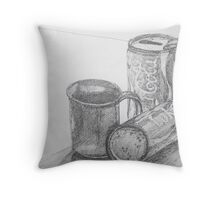 Coca Cola Study Sketch Throw Pillow