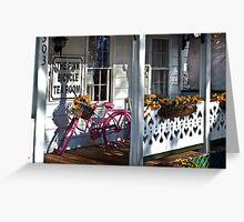 The Pink Bicycle Tea Room Greeting Card