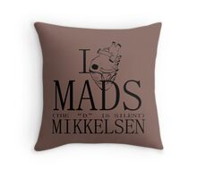 I Heart Mads Throw Pillow