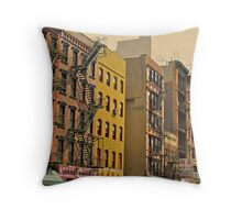 Fire Escapes Throw Pillow
