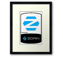 Powered By ZORIN ! Framed Print